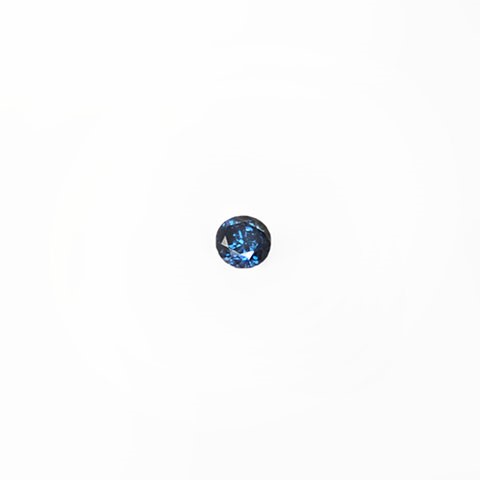 0.20ct Round brilliant cut blue diamond