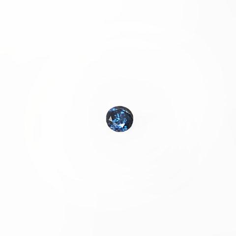 0.20ct Round brilliant cut blue diamond