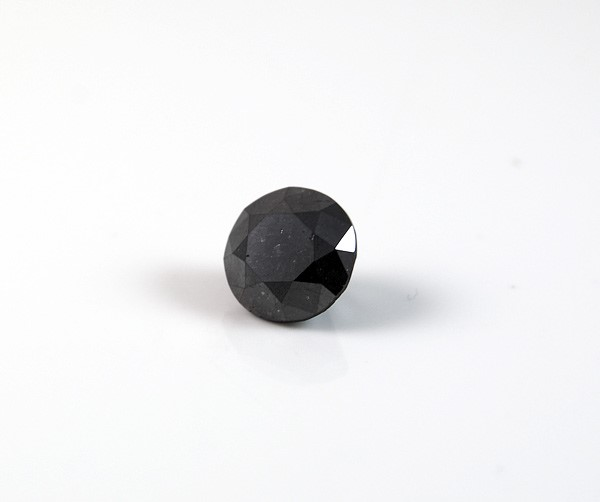 2.26ct Round brilliant cut natural black diamond
