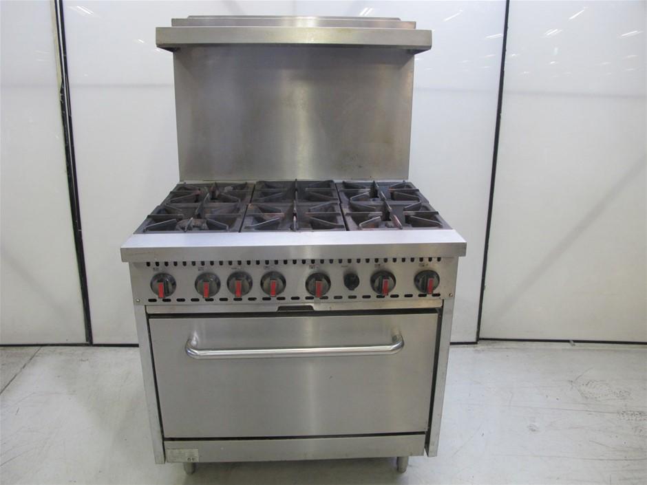 Fed Gas 6 Burner Stove Cooktop w/ Oven Range