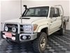2013 Toyota Lcruiser Workmate (4x4) VDJ79R T/Diesel Manual Crew Cab Chassis