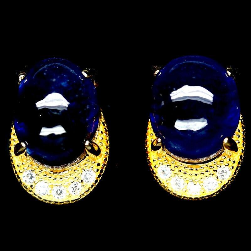 Lovely Sea Foam Blue Zircon Sapphire Earrings.