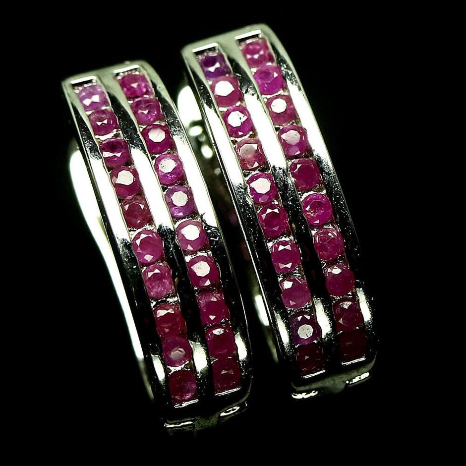 Delightful Pink Ruby Earrings