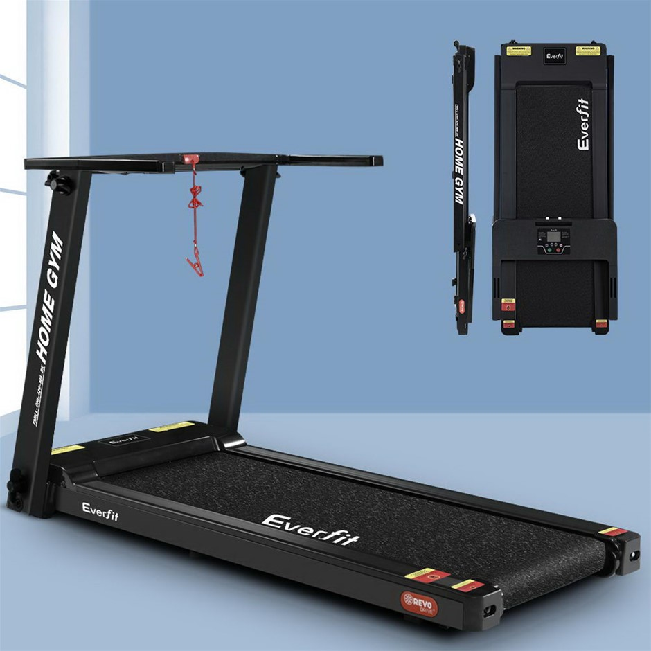 Everfit Electric Treadmill Home Gym Compact Fully Foldable 420mm Belt Black