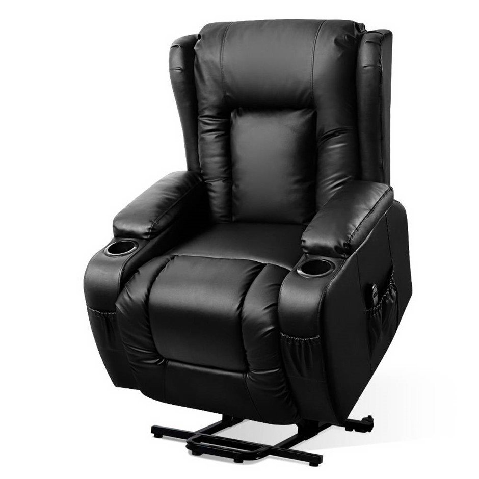 Artiss Electric Recliner Chair Lift Heated Massage Lounge Sofa Leather