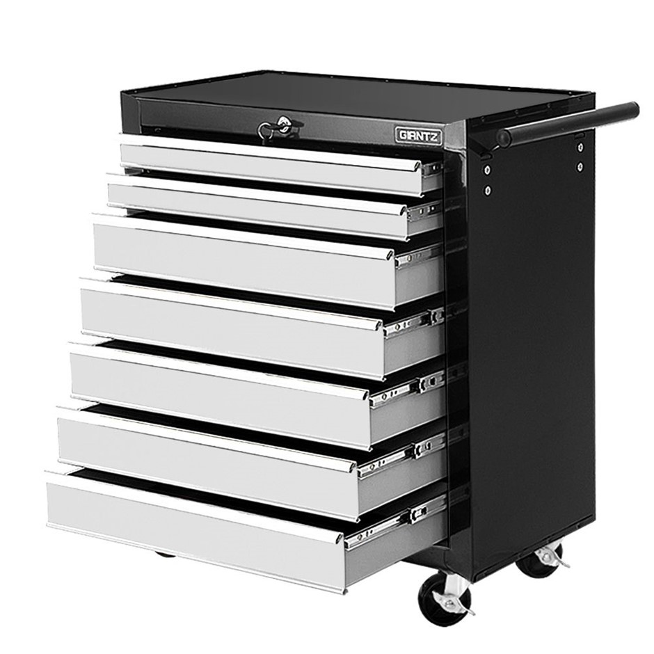 Giantz Tool Box Chest Cabinet Trolley 7 Drawers Cart Garage Storage Set