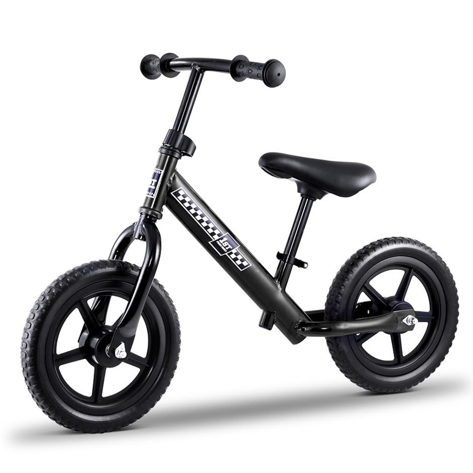 """Kids Balance Bike Ride On Toys Push Bicycle Wheels Toddler Baby 12"""" Bikes"""