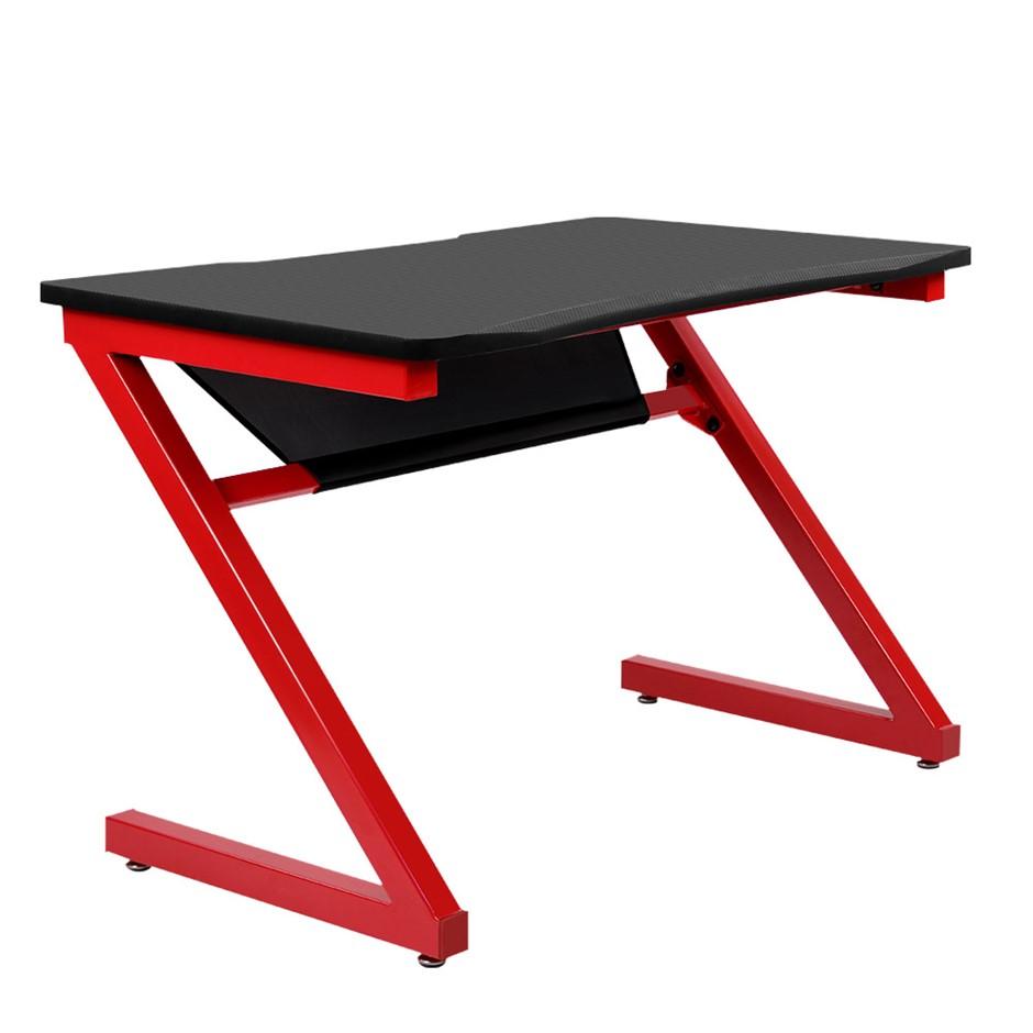 Artiss Office Computer Desk Study Gaming Table Racer Desks Laptop Red