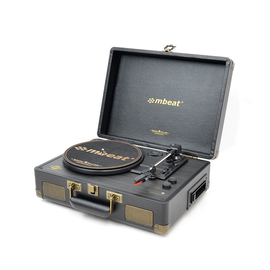 mbeat MB-TR166BLK Uptown Retro Bluetooth Turntable & Cassette Player (New)