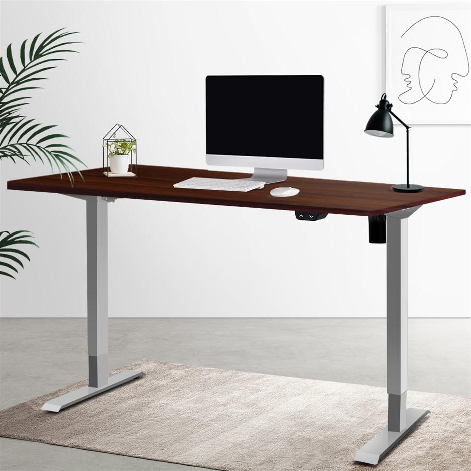 Artiss Standing Desk Stand Table Height Adjustable Motorised 100cm Walnut