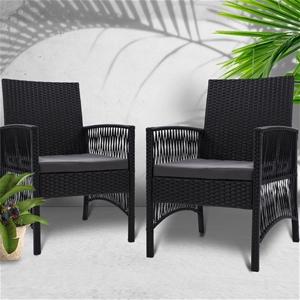 Gardeon 2x Outdoor Furniture Dining Chai
