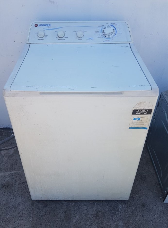 HOOVER 7.5 KG HEAVY DUTY TOP LOADER WASHING MACHINE Located: 46 Whitake