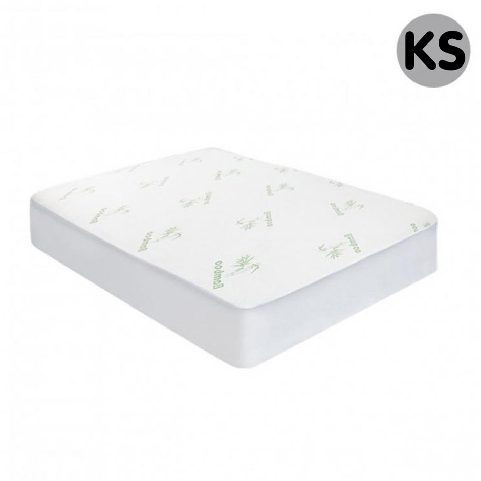 Laura Hill Bamboo Fitted Mattress Protector - King Single Size