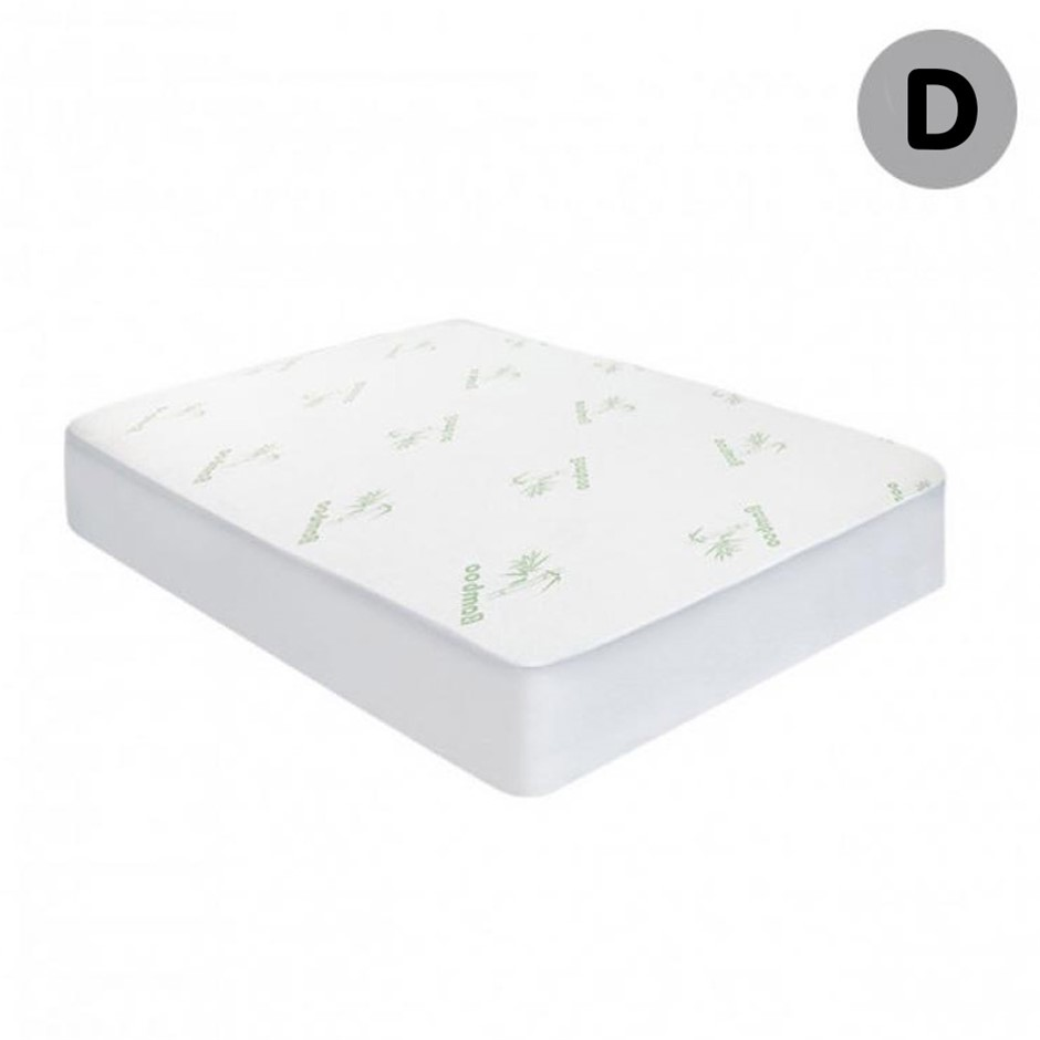 Laura Hill Bamboo Fitted Mattress Protector - Double Size
