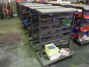 Quantity of 5 Mobile Spare Parts Racks