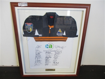 Framed / Autographed 2004 ACT Brumbies Super 12 Champions Jersey