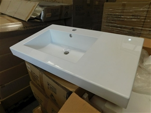1 x Single Basin Vanity Top Only