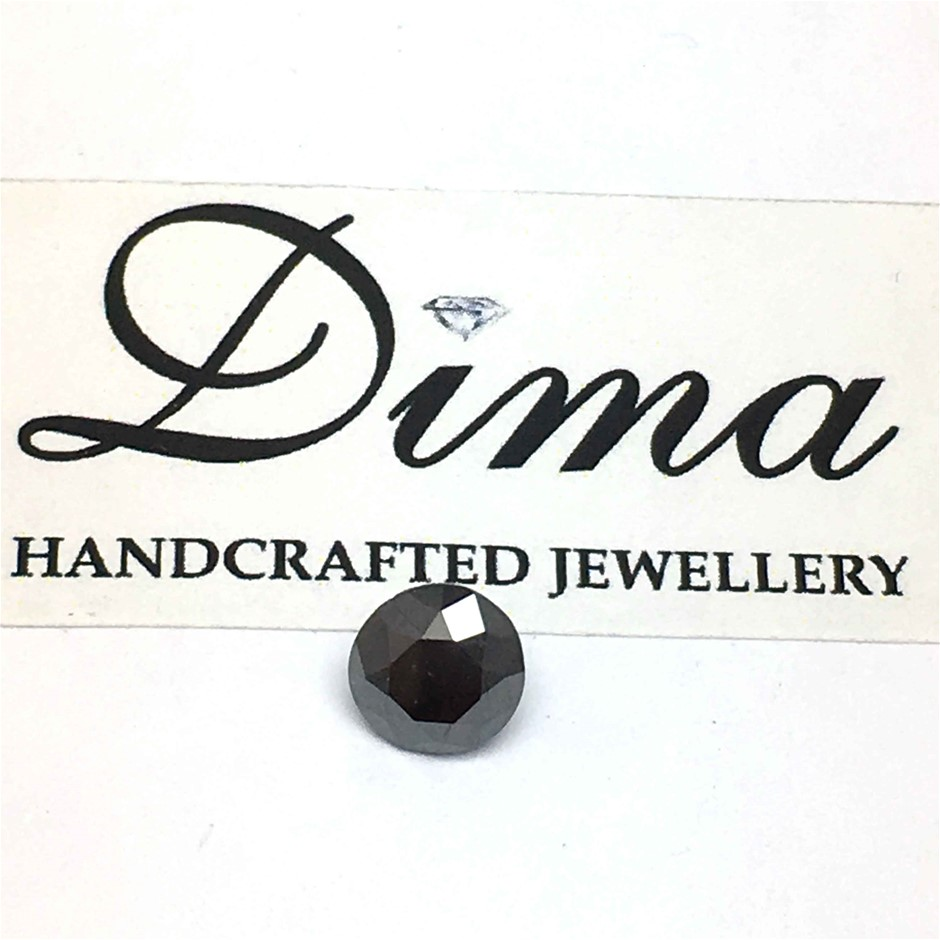 One Stone Black Diamond 0.98ct in Total