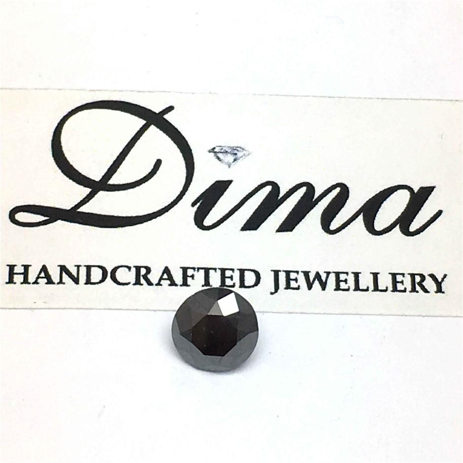 One Stone Black Diamond 0.98ct in Total