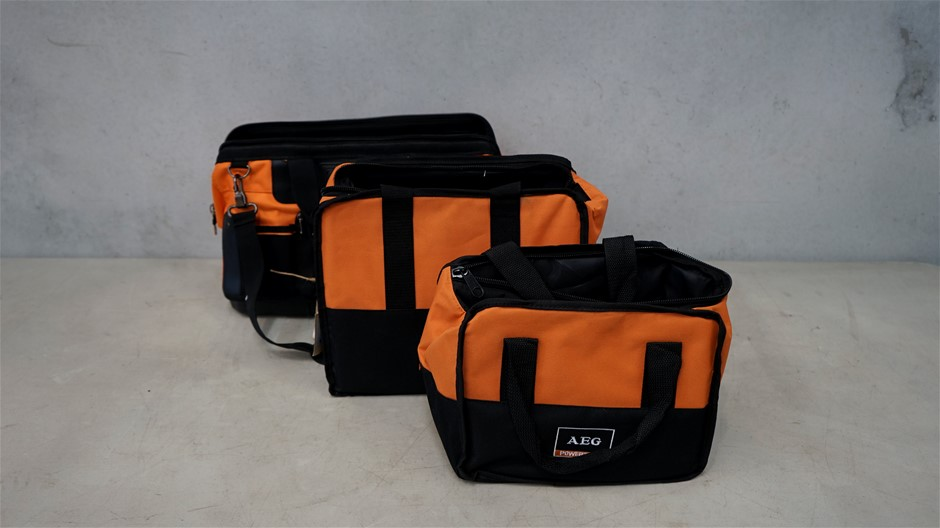 3 AEG Tool Bags - Orange and Black