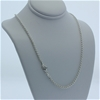 Genuine Sterling Silver double belcher chain necklace 46 cm