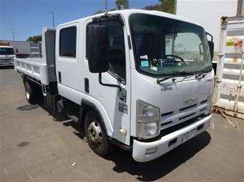 2010 Isuzu NPR 300 4 x 2 Crew Cab Chassis Tipper Truck
