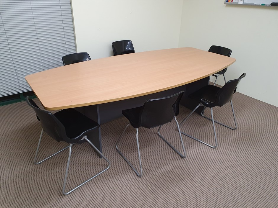 Boardroom Table and 6x Chairs