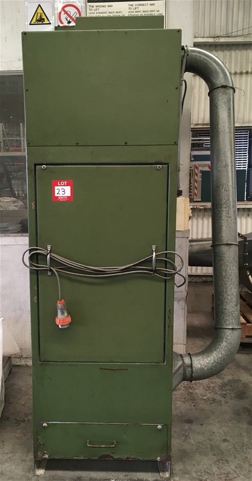 Dust Extractor 3PH (Green) working condition.