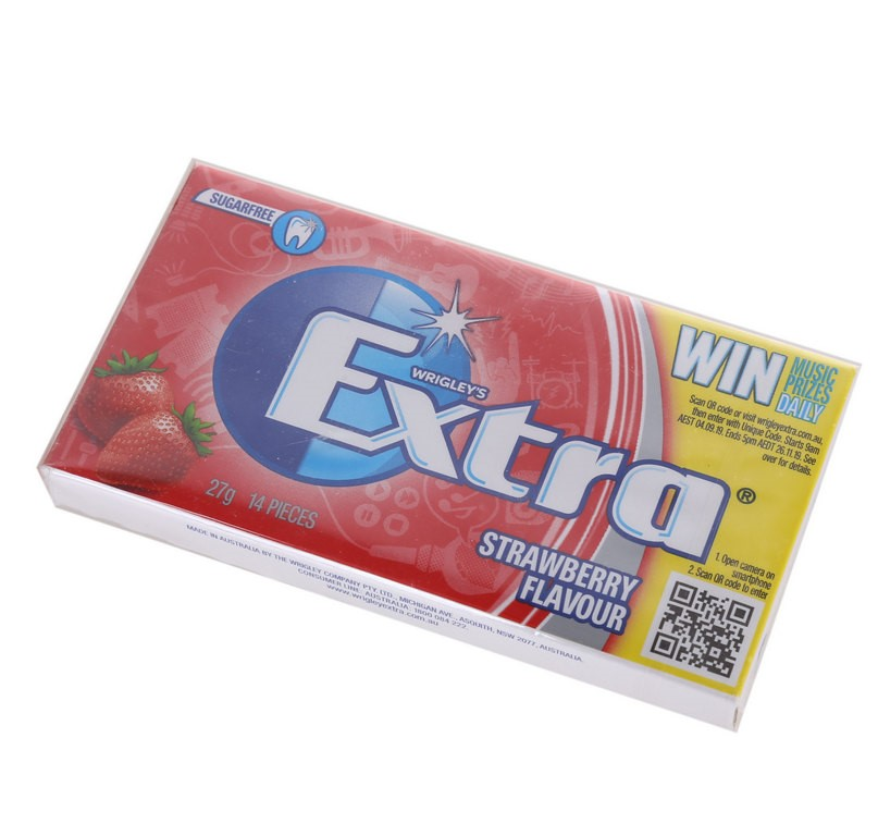 12 Packet x WRIGLEY`S 14pc Extra Strawberry Gum. Buyers Note - Discount Fre