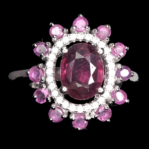 Striking Genuine Ruby Ring