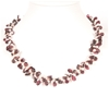Natural Double Strand Freshwater Pearl And garnet Necklace