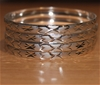 Ladies set of 4 silver plated patterned bangles