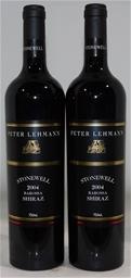 Peter Lehmann Stonewell Shiraz 2004 (2x 750mL), Barossa. Cork closure.