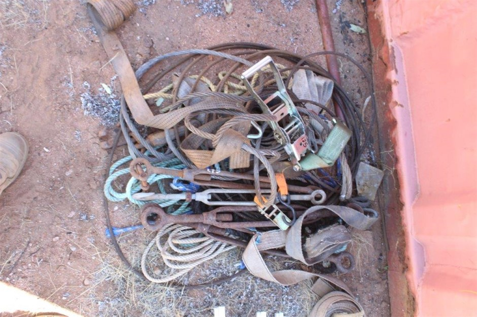 Assorted Load Straps, Ropes, Turnbuckles