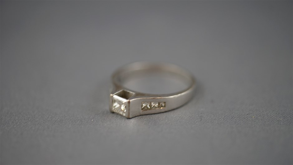 Tested White Gold Diamond Ring