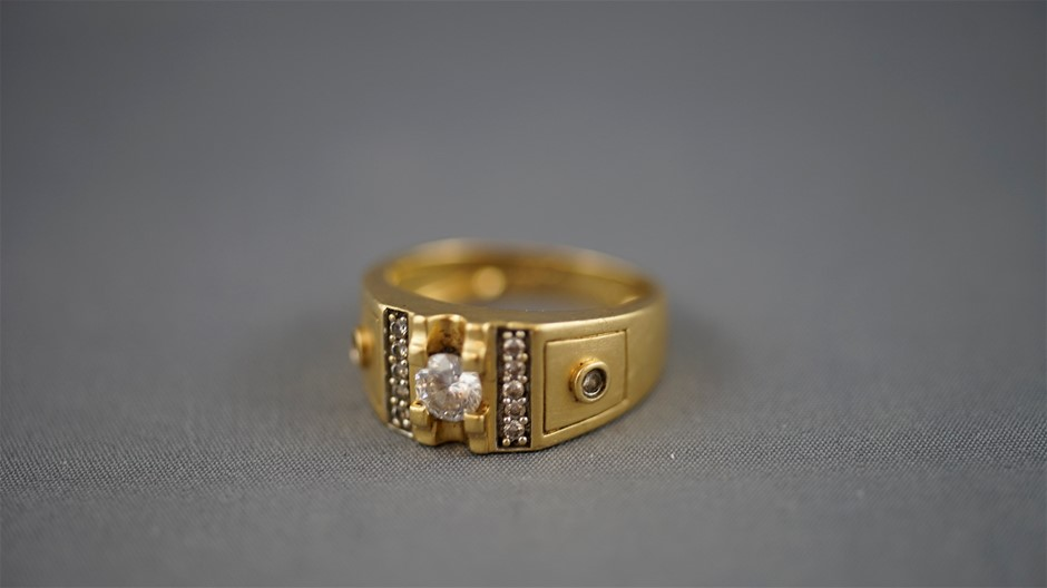 Stamped 18ct Yellow Gold Ring