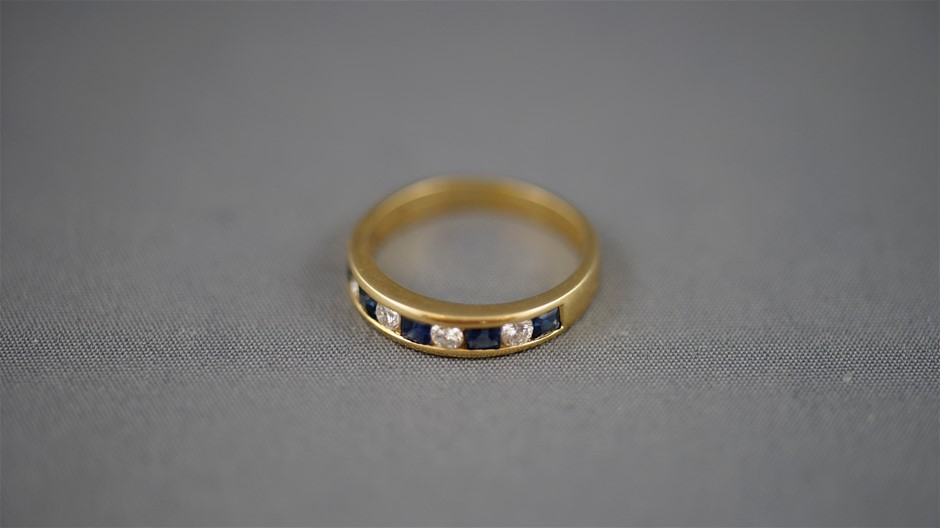 Stamped 18K Yellow Gold Ring