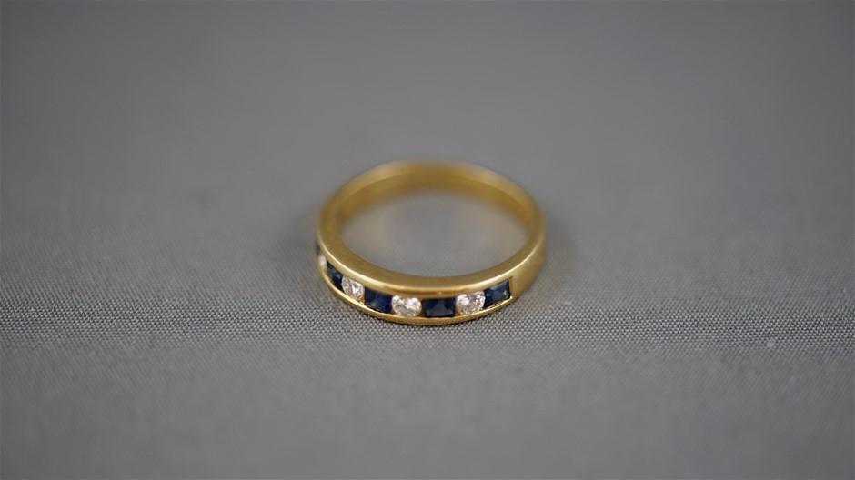 Stamped 18K Yellow Gold Ring