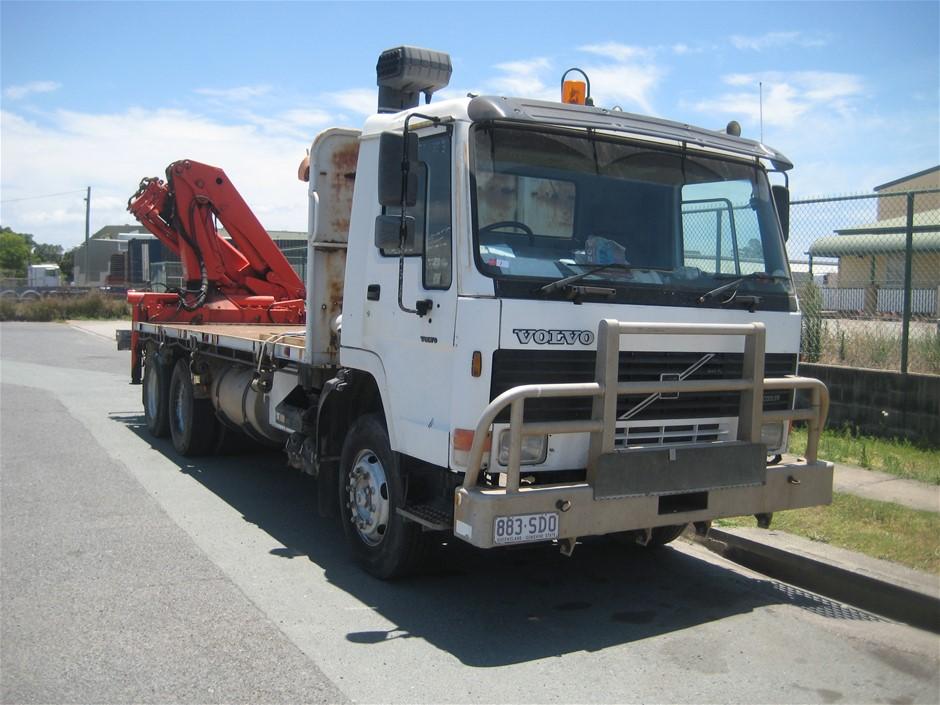 1995 Volvo FL10 Crane Truck