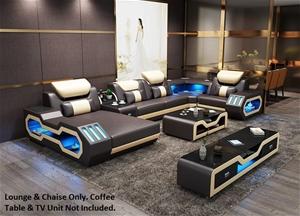 Elegance Euro Design Bonded Leather Loun