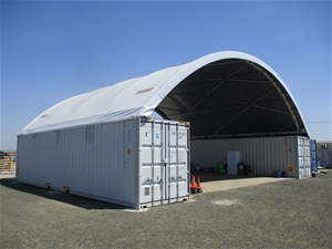 Dome Container Shelter with 2 x 40' Ship