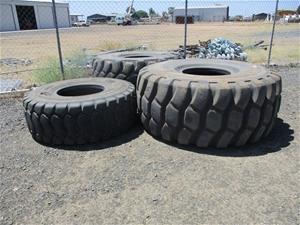 Qty 3 x Earthmoving Tyres