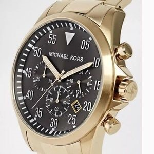 Mens Michael Kors Couture NY gold plated 'Gage' chrono watch