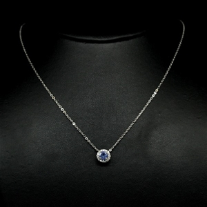 Beautiful Genuine Tanzanite Necklace.