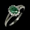 Striking Genuine Emerald Solitaire Ring.