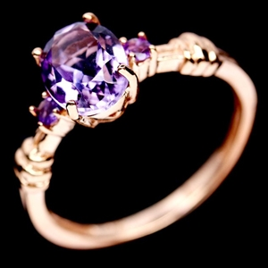 Gorgeous Genuine Amethyst Ring.