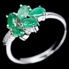 Beautiful Genuine Emerald Ring