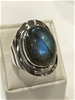 Impressive Handcrafted Labradorite Ring. Size Q 1/2 (8.50)