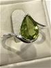 Impressive 1.40ct Peridot Ring . Size P  (7.75)