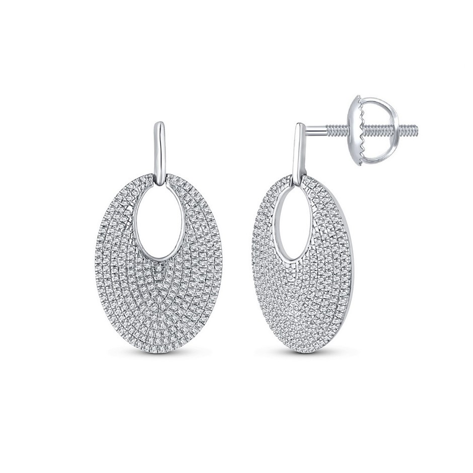 9ct White Gold, 0.70ct Diamond Earrings